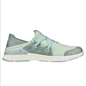 Olukai 8 Miki Li Slip On Shoes Pale Moss Dolphin